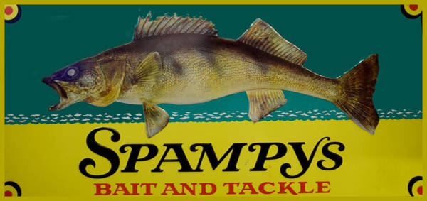 Painting - Spampys Bait And Tackle by Sign Art