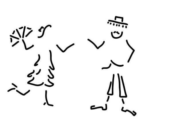 Lineart Drawing - Spaniard Spaniard Flamenco Andalusia by Lineamentum
