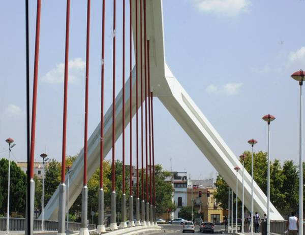 Photograph - Spanish Bridge II On The Way To Seville Spain by John Shiron