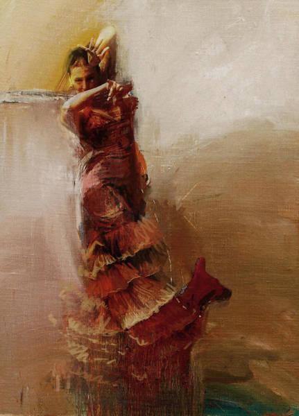 Senorita Painting - Spanish Culture 1 by Corporate Art Task Force