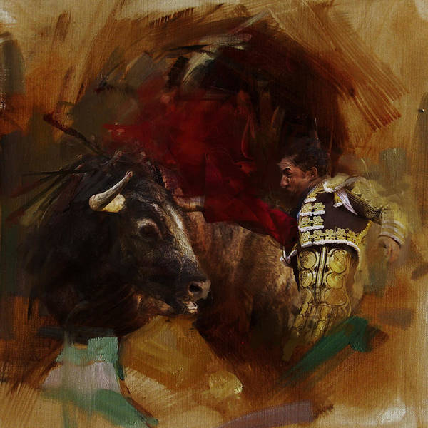Matador Wall Art - Painting - Spanish Culture 7 by Corporate Art Task Force