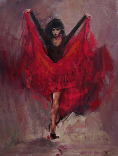 Senorita Painting - Spanish Culture 8 by Corporate Art Task Force