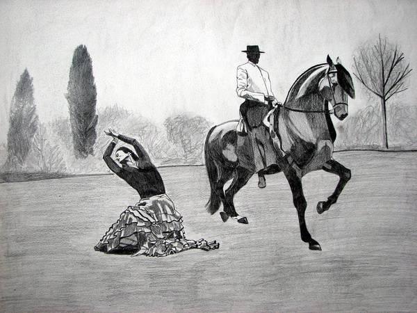 Wall Art - Drawing - Spanish Dance by Melita Safran