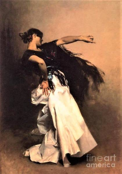 Wall Art - Painting - Spanish Dancer  by Pg Reproductions