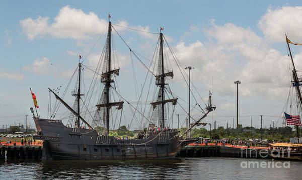 Photograph - Spanish El Galeon Tall Ship Docked In Charleston South Carolina by Dale Powell