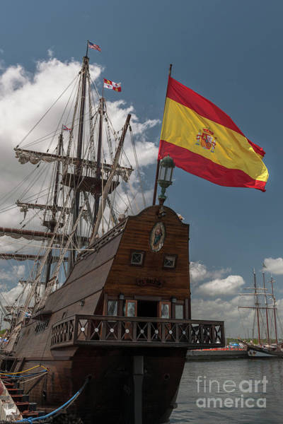 Photograph - Spanish Galeon Sailing Vessel by Dale Powell