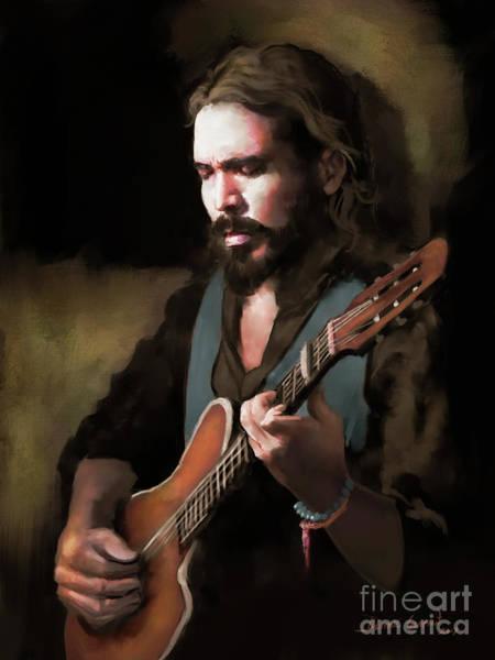 Digital Art - Spanish Guitar - El Javi by Dwayne Glapion