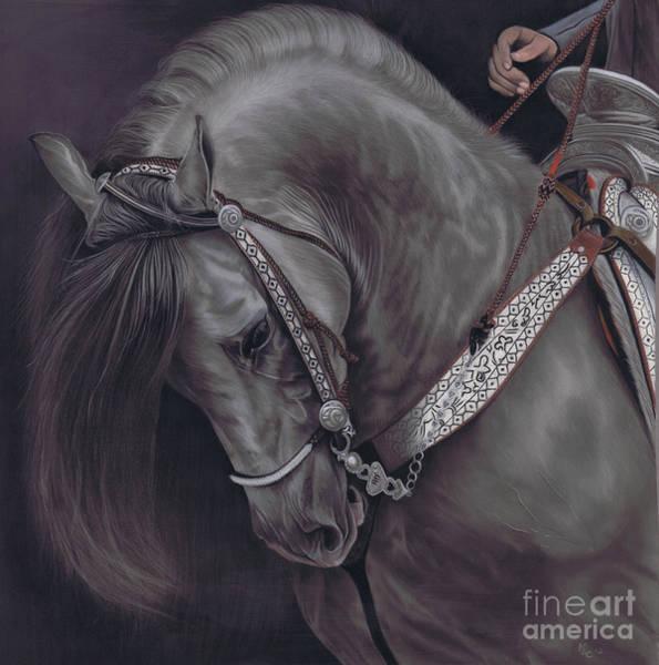 Pastel - Spanish Horse by Karie-Ann Cooper