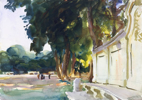 Drawing - Spanish Midday, Aranjuez by John Singer Sargent
