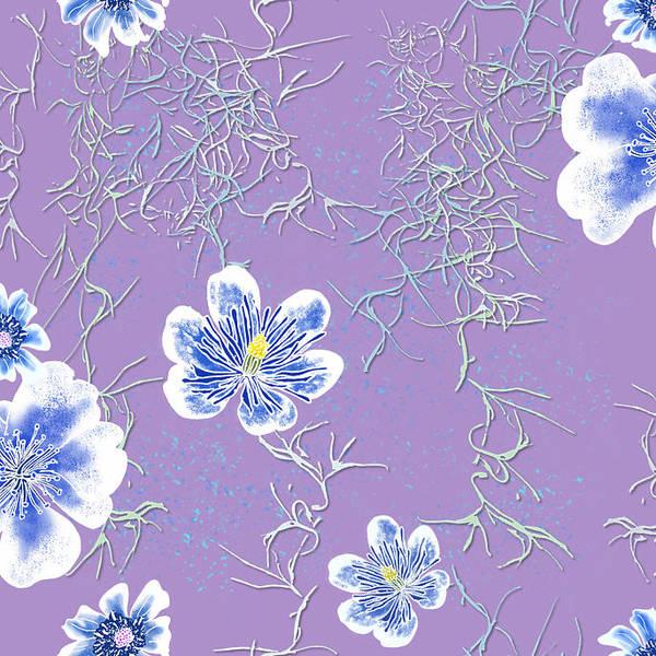 Lavender Spanish Moss Tile Art Print