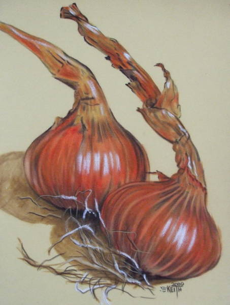 Pastel - Spanish Onions by Barbara Keith