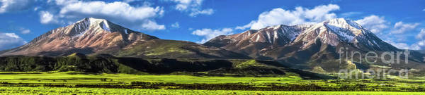 Photograph - Spanish Peaks Panorama by Imagery by Charly