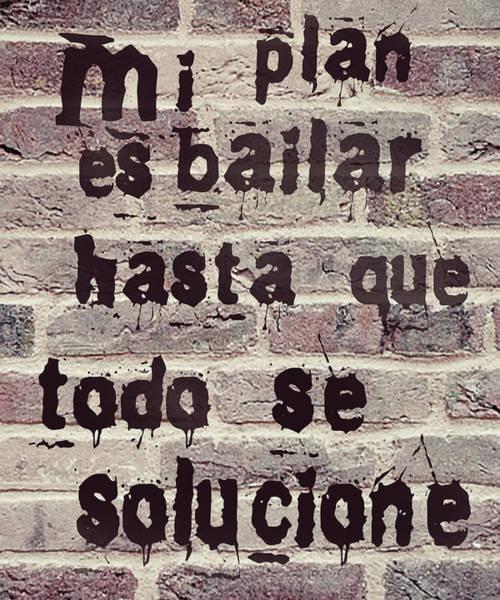 Bolivia Mixed Media - Spanish Plan De Baile - Plan To Dance Brick by Hw