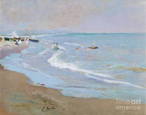 1923 Painting - Spanish Playa De Valencia by MotionAge Designs