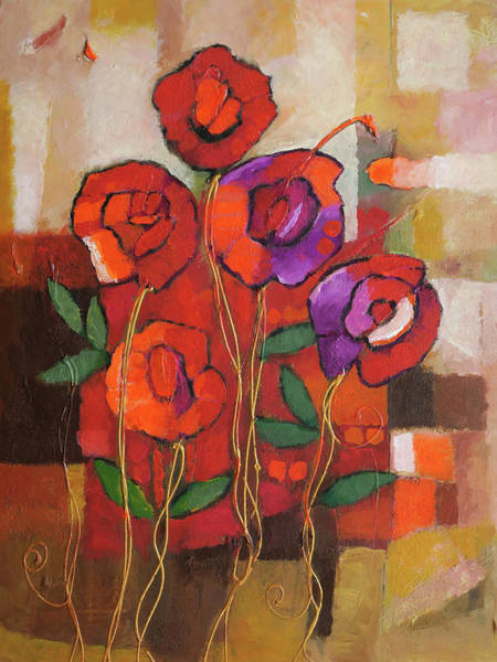 Painting - Spanish Roses by Lutz Baar