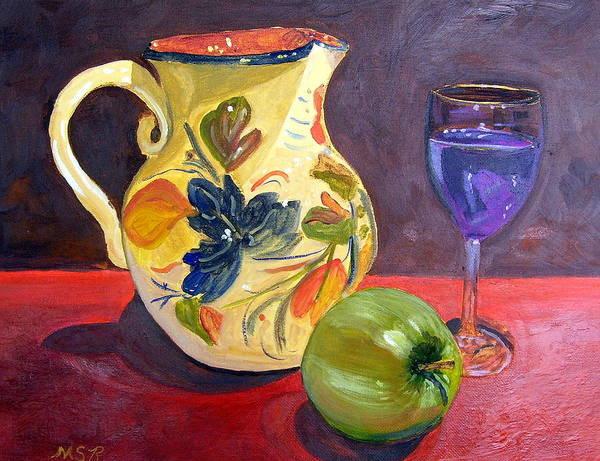Spanish Wine Painting - Spanish Sangria by Maria Soto Robbins