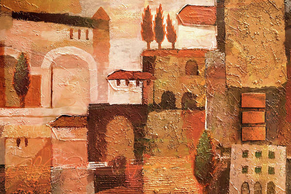 Wall Art - Painting - Spanish Sepia by Lutz Baar
