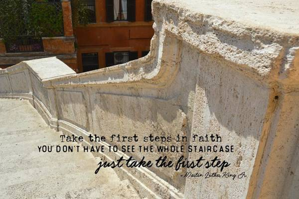 Spanish Steps Quote Art Print