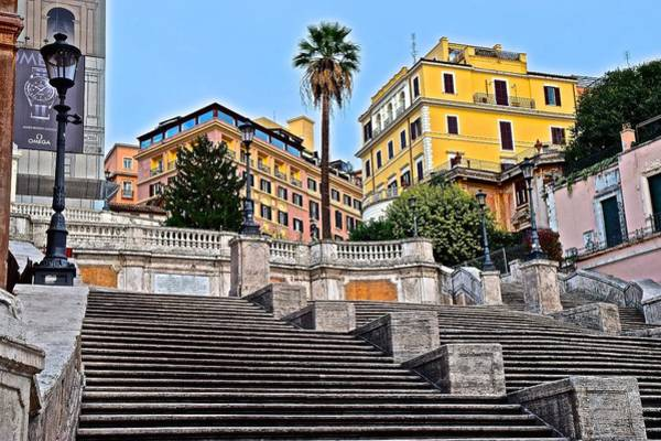 Wall Art - Photograph - Spanish Steps Rome Italy by Frozen in Time Fine Art Photography