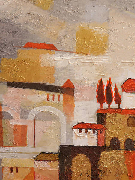 Wall Art - Painting - Spanish Town by Lutz Baar