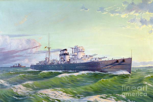 Photograph - Spanish Warship, C1900 by Granger