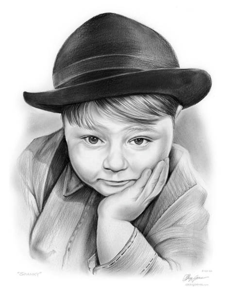 Movie Drawing - Spanky by Greg Joens