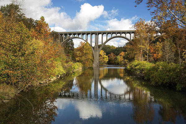 Photograph - Spanning The Cuyahoga River by Dale Kincaid