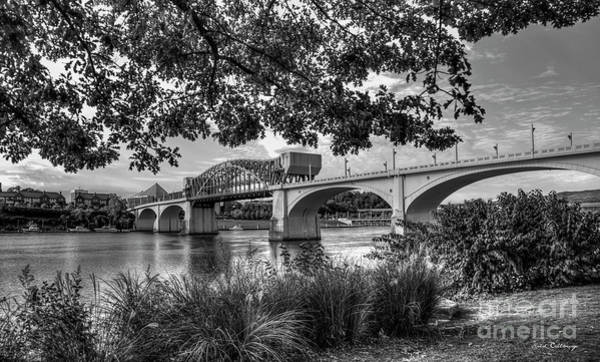 Photograph - Spanning The Tennessee River 2 John Ross Bridge B W Art by Reid Callaway