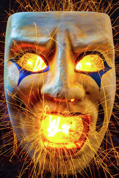 Photograph - Sparking Mask by Garry Gay