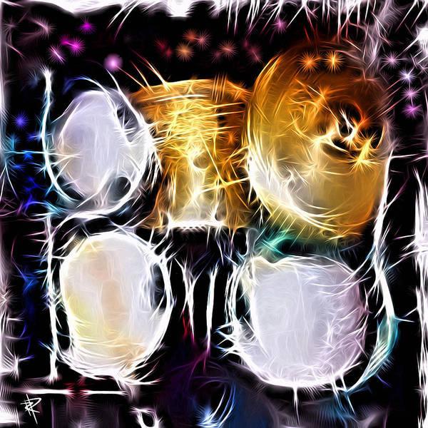 Sparkle Drums Art Print