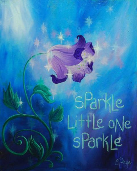 Painting - Sparkle, Little One by Emily Page