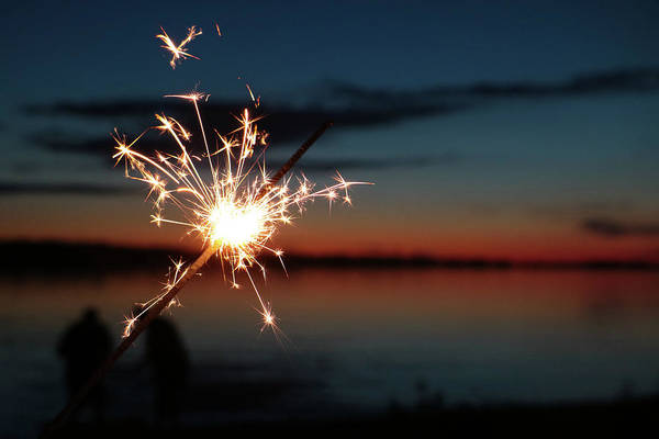 Photograph - Sparklers After Sunset II by Kelly Hazel