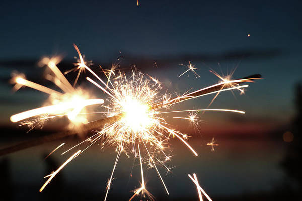 Photograph - Sparklers After Sunset by Kelly Hazel