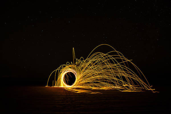Steel Wool Photograph - Sparks 2 by Pelo Blanco Photo