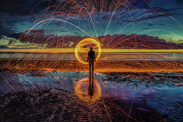 Steel Wool Photograph - Sparks Will Fly by Paul Madden