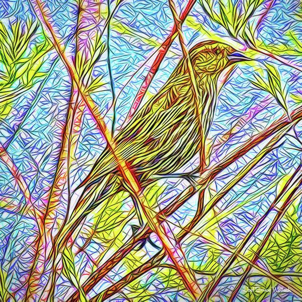 Digital Art - Sparrow In Solitude by Joel Bruce Wallach