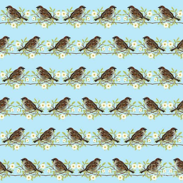 Sparrow Mixed Media - Sparrows by Gaspar Avila