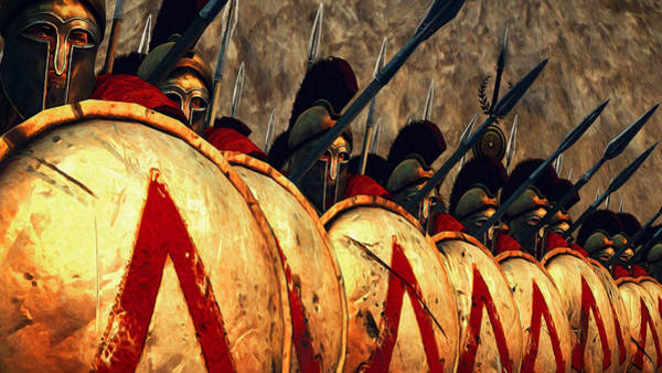 Spartan Army - Wall Of Spears Art Print