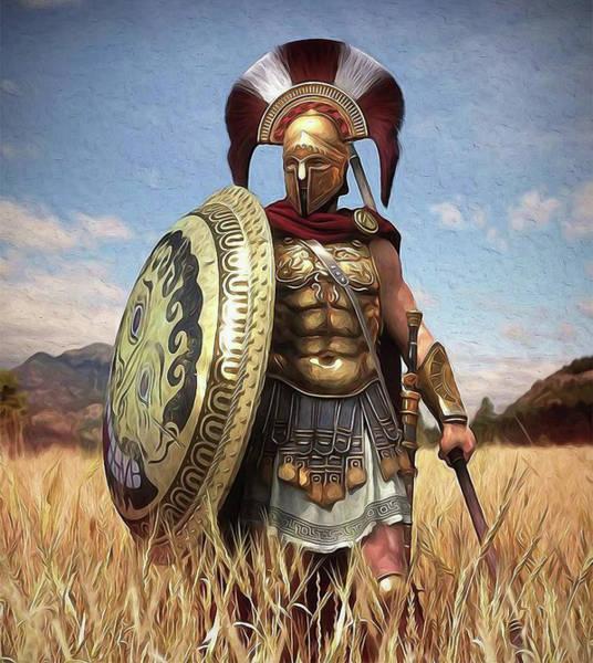 Spartan Hoplite - 02 Art Print