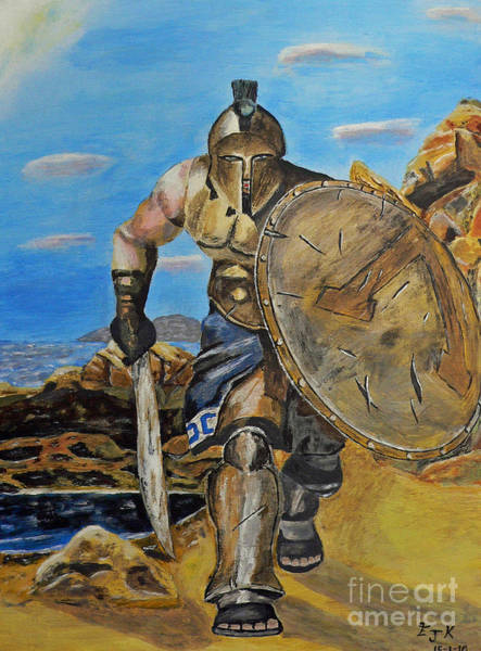 Spartan Warrior One Of The Three Hundred Art Print