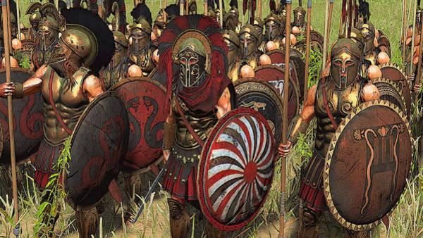 Spartan Warriors Before The Battle Art Print
