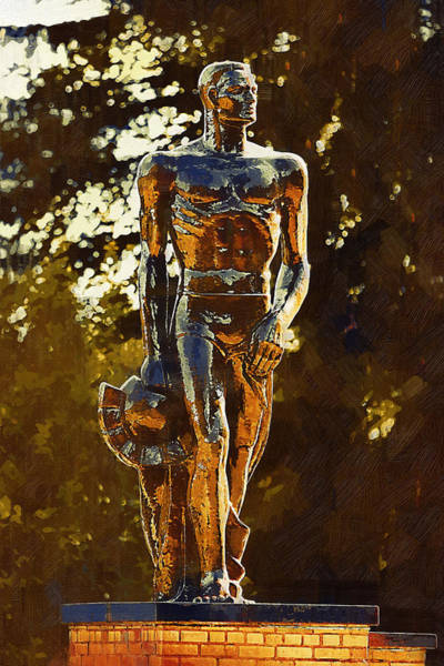 Statue Digital Art - Sparty by Paul Bartoszek