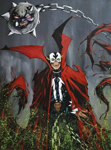 Spawn Painting - Spawn by Andy Gomez Reyes