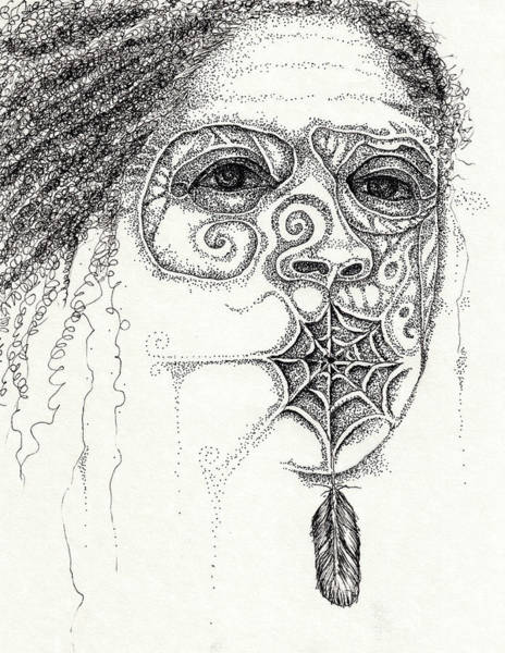 Drawing - Speak No Evil by Cora Marshall