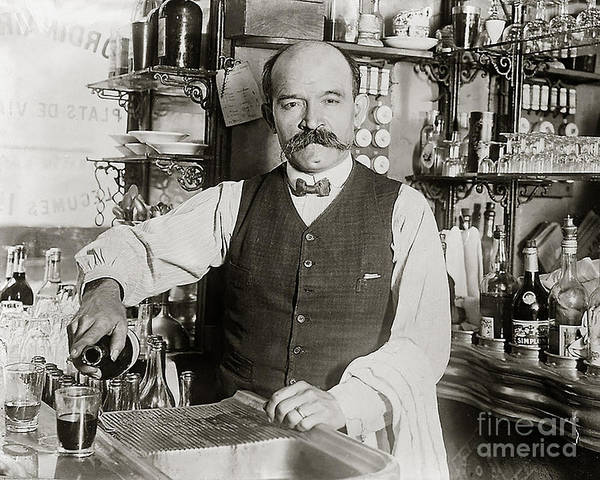 Wall Art - Photograph - Speakeasy Bartender by Jon Neidert
