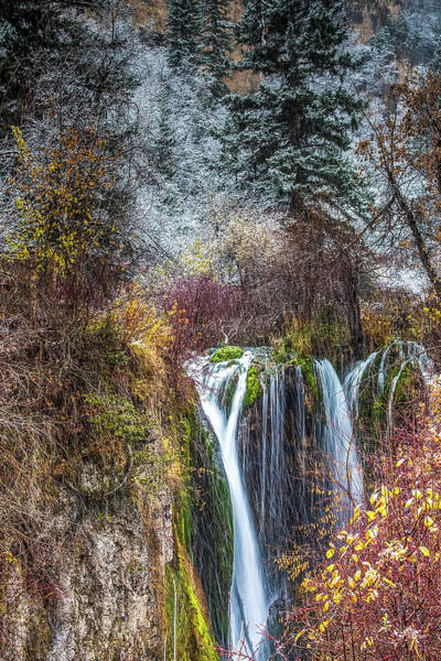 Wall Art - Photograph - Spear Fish Canyon Falls by Paul Freidlund