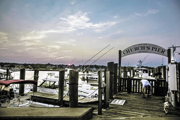 Wall Art - Photograph - Speared Sunset Over Martha's Vineyard by Madeline Ellis