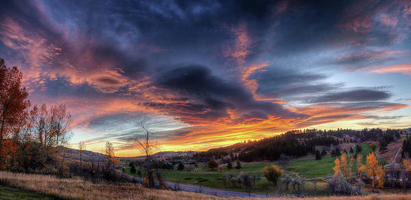 Photograph - Spearfish Canyon Golf Club Sunrise by Fiskr Larsen