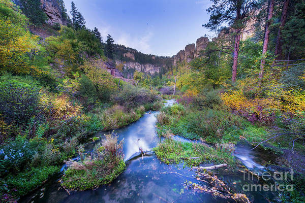 Wall Art - Photograph - Spearfish Falls Evening by Twenty Two North Photography