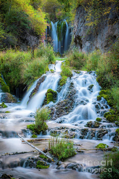 Wall Art - Photograph - Spearfish Falls Vertical by Twenty Two North Photography